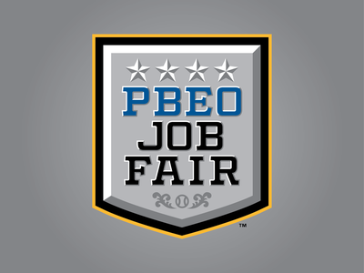 2020 PBEO Job Fair texas dallas stars fair job pbeo logo sports badge 2020