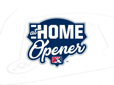 #MiLBAtHomeOpener design at home opener diamond badge baseball sports logo home milb