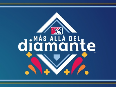 Más Allá Del Diamante // Beyond the Diamond diamante milb home diamond design baseball logo sports