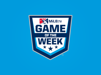 MiLB.TV Game of the Week Logo week game stars badge design milb baseball logo sports