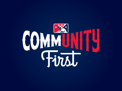 MiLB CommUNITY First branding design baseball sports logo first community milb