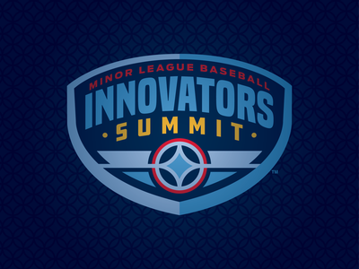 Virtual Innovators Summit branding design milb summit innovators badge baseball logo sports