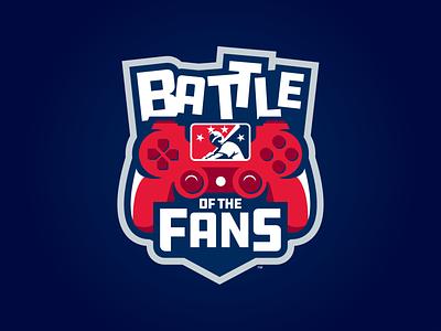 #MiLBBattleOfTheFans icon prospect tournament esports video games controller badge logo fans battle milb