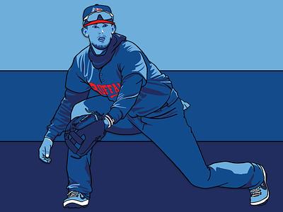 Buffalo Blue Jays: Cavan Biggio toronto sports player mlb milb illustration design buffalo blue jays baseball