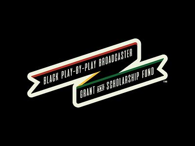 Black PxP Fund - Secondary Logo sports scholarship milb logo grant fund design broadcaster branding black baseball banner badge