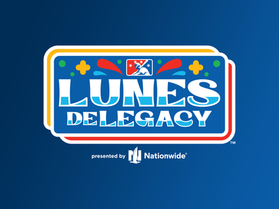 Lunes De Legacy vector typography sports month milb logo hispanic heritage design branding baseball badge