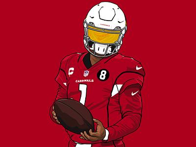 Kyler Murray nfl football ipad procreate murray kyler illustration cardinals arizona design sports