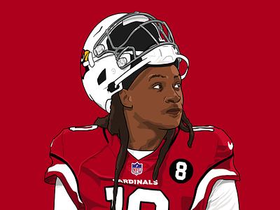 DeAndre Hopkins sports design arizona cardinals illustration hopkins deandre procreate ipad football nfl