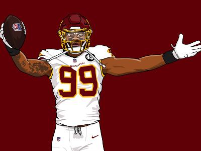 Chapter 8: The Streak Continues (Win vs 49ers) washington football nfl procreate ipad illustration