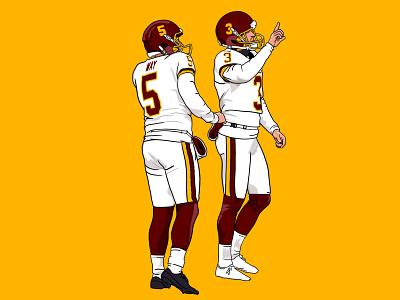 Chapter 7: Upset the Undefeated (Win vs Steelers) washington football nfl procreate ipad illustration