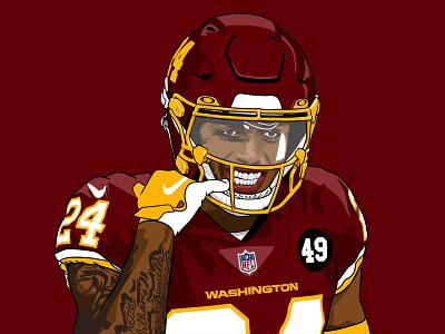 Chapter 6: Feasting on Thanksgiving (Swept the Cowboys) washington football nfl procreate ipad illustration