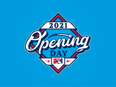 2021 Opening Day branding icon prospect 2021 day opening base badge mlb milb design baseball logo sports