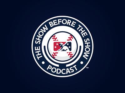 The Show Before The Show Podcast show podcast icon prospect branding badge milb design baseball logo sports