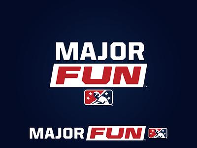MiLB Major Fun icon prospect fun major branding milb design baseball logo sports