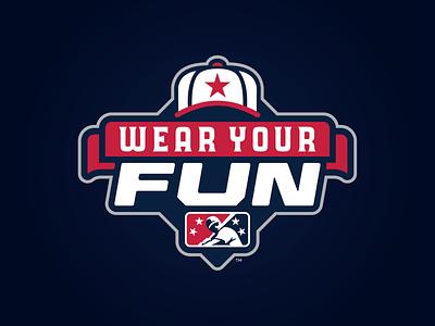 MiLB Wear Your Fun icon prospect fun hat branding badge milb design baseball logo sports