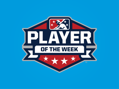 MiLB Player of the Week week player stars icon prospect branding badge milb design baseball logo sports