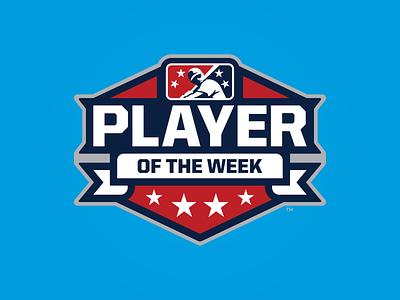 MiLB Player of the Week week player stars icon prospect branding badge milb design baseball logo sports