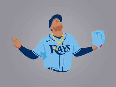 Luis Patiño Illustration procreate illustration mlb rays tampa bay tampa baseball sports