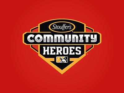Stouffer's Community Heroes branding partnership stouffers heroes community icon prospect badge milb design baseball logo sports