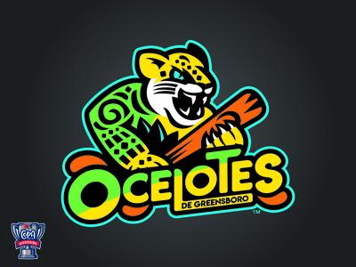 Ocelotes de Greensboro Primary Logo