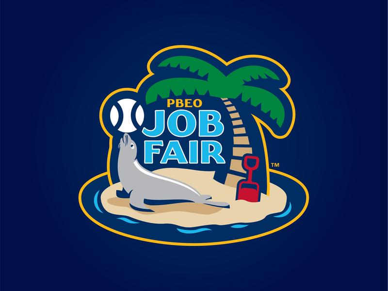 2019 PBEO Job Fair san diego palm tree sea lion sand mlb milb meetings winter baseball fair job pbeo 2019