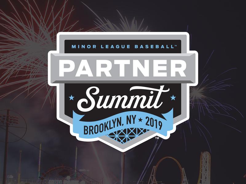 2019 MiLB Partner Summit design logo fireworks brooklyn summit partner milb 2019