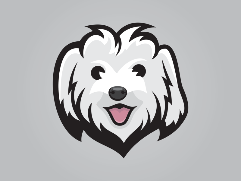 Maltese Logo maltese dog design logo sports