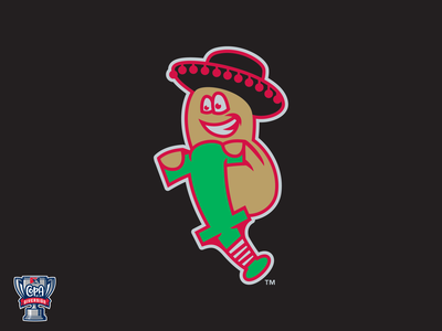 Frijoles Saltarines de Puerto Carlota (MiLB) pogo beans jumping sports florida milb logo design copa baseball charlote port charlotte