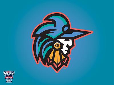 Guerreros de Fayetteville (MiLB) guerreros sports milb logo design copa baseball fayetteville