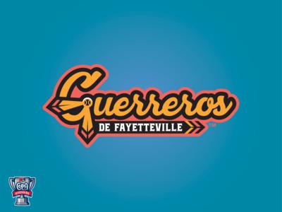 Guerreros de Fayetteville Wordmark