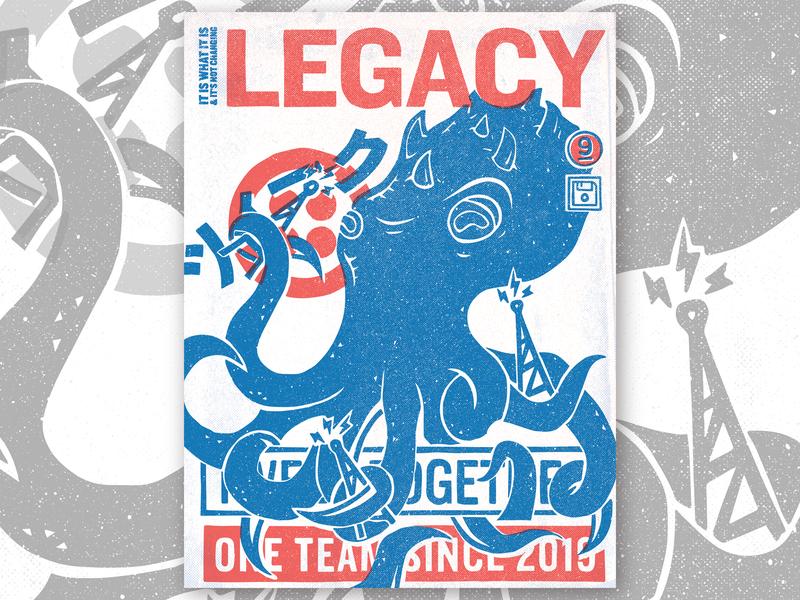 TWEEK 9.0 | Legacy poster legacy kaiju hackathon tweek twilio