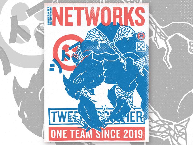 TWEEK 9.0 | Networks poster networks kaiju hackathon tweek twilio