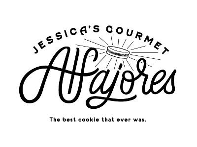 Jessica's Gourmet Alfajores vancouver logo design branding south american alfajores lettering illustration vector cookie hand lettering logo
