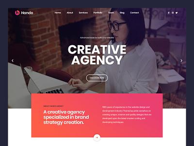 Hando  Elementor Template Kit wordpress template seo responsive portfolio modern minimal fast loading elementor creative corporate clean business blog agency