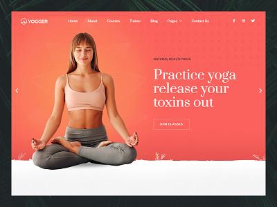 Yogger Elementor Template Kit yoga wordpress wellness seo responsive page builder modern meditation health fitness fast loading elementor creative clean blog