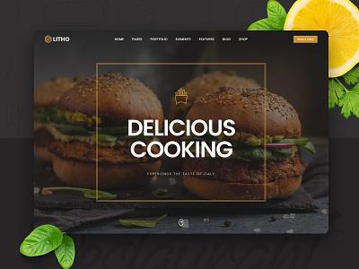 Litho - Elementor WordPress Theme - Restaurant woocommerce