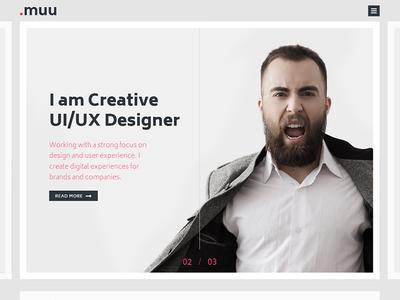 MUU - Unique and Creative Resume / Portfolio Template
