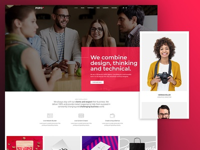 Pofo WordPress Theme - Innovation Agency