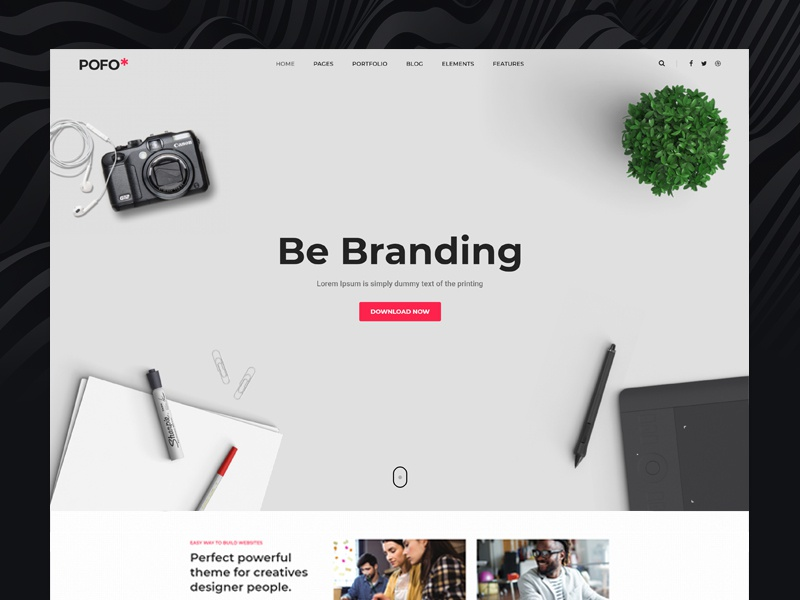 Pofo WordPress Theme - Web Agency web agency blog business corporate creative website ecommerce freelancer html5 modern multipurpose wordpress photography portfolio