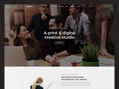 Pofo WordPress Theme - Corporate