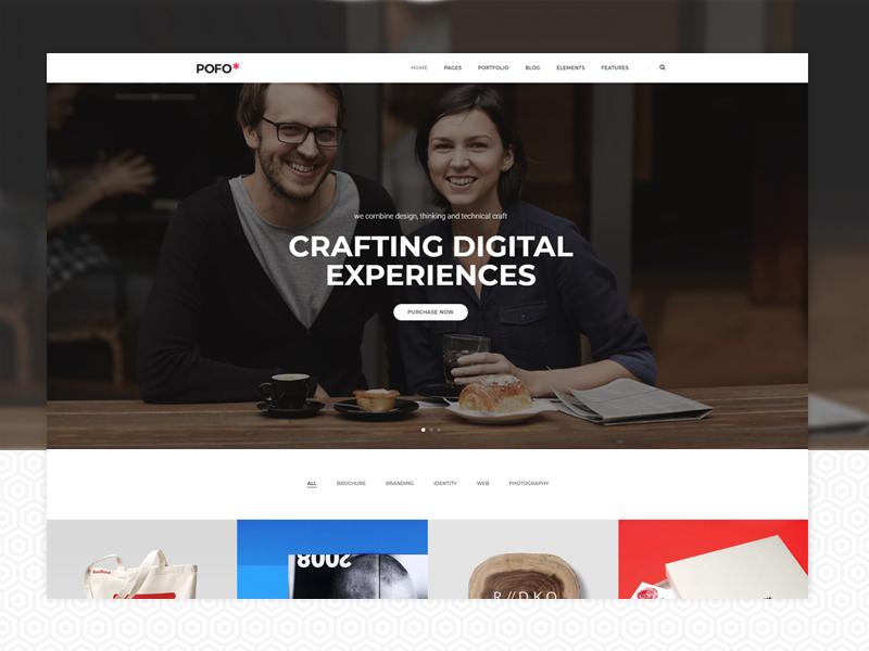 Pofo WordPress Theme - Interactive portfolio photography multipurpose wordpress modern html5 freelancer ecommerce creative website corporate business blog interactive