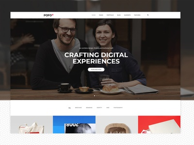 Pofo WordPress Theme - Interactive
