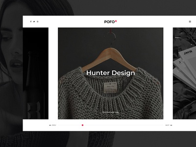 Pofo WordPress Theme - Portfolio Centered Slides