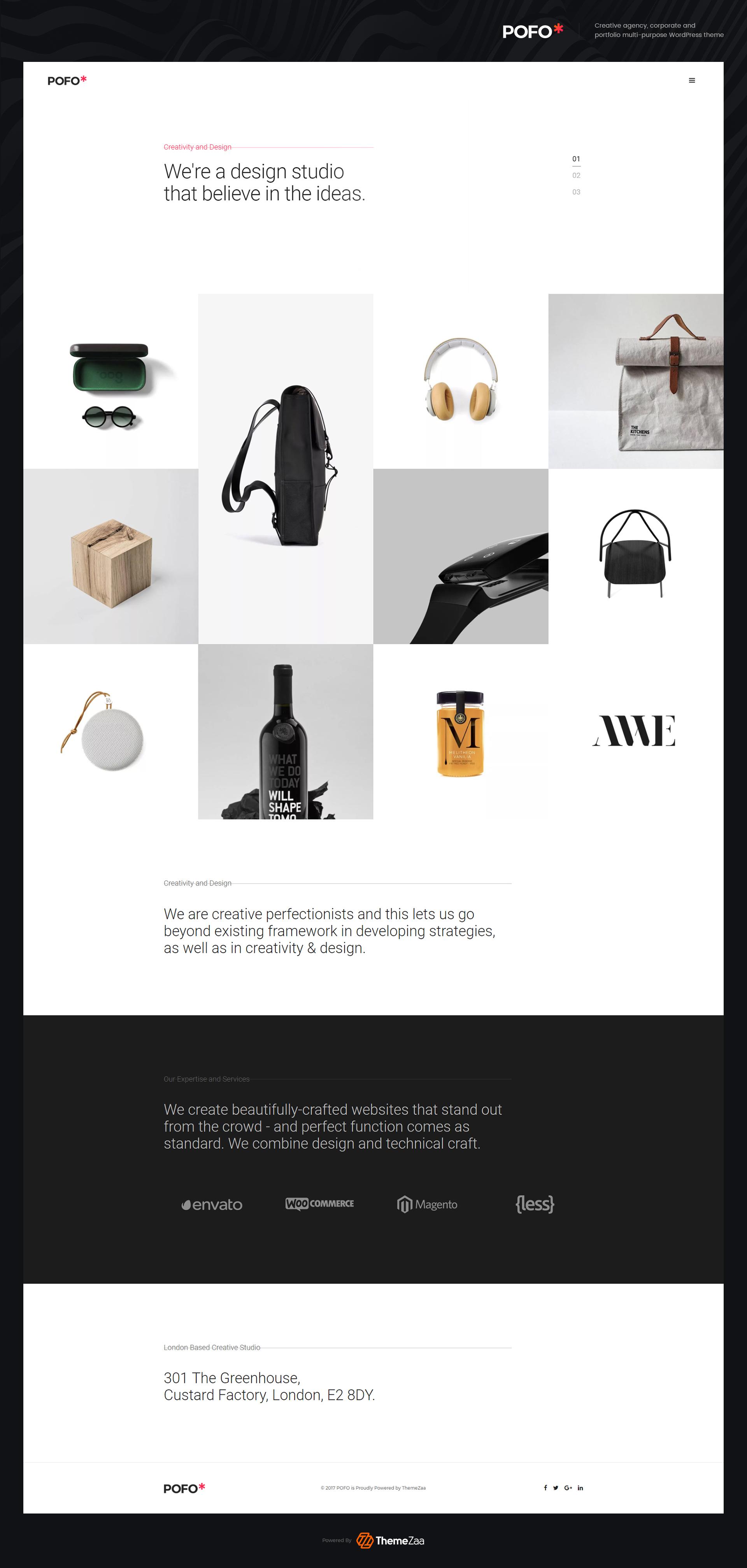Home portfolio minimal