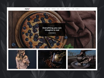 Pofo WordPress Theme - Blog Grid blog grid business corporate creative website ecommerce freelancer html5 modern multipurpose wordpress photography portfolio minimal