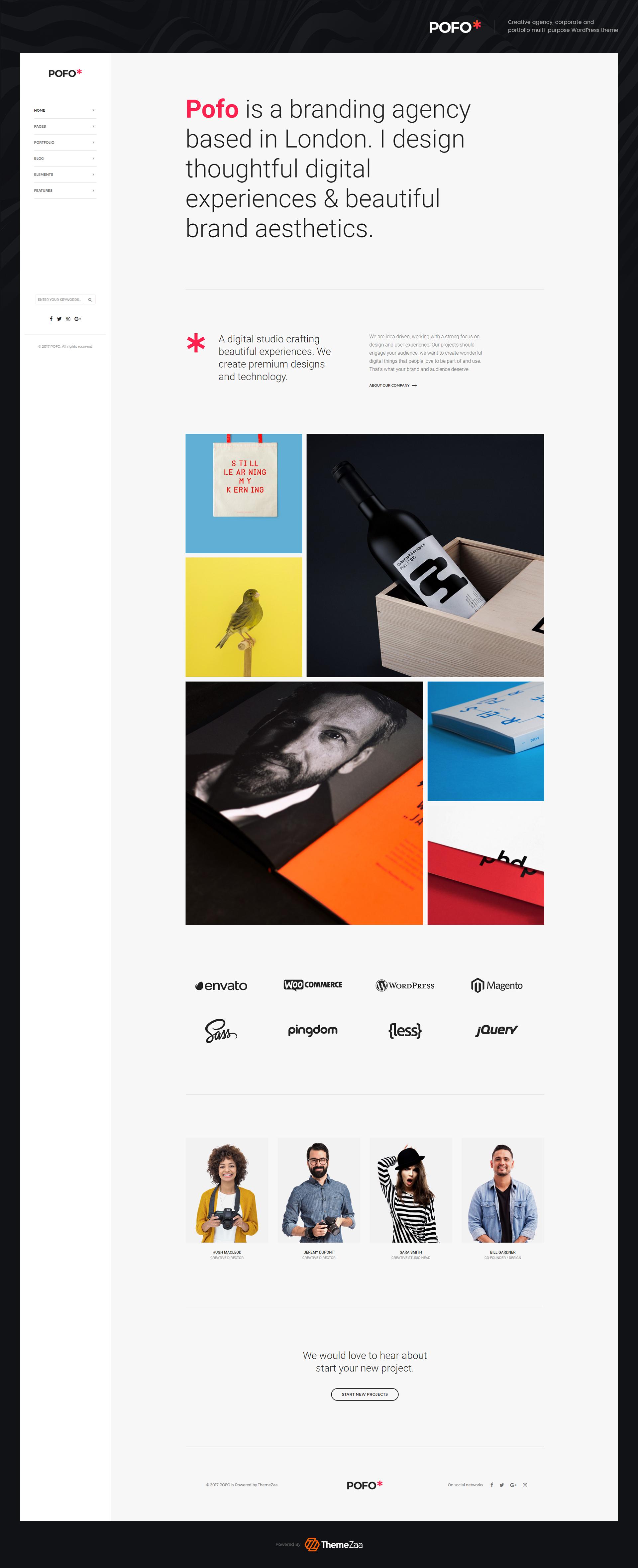 Home creative simple portfolio