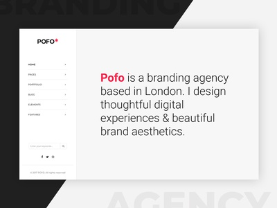 Pofo WordPress Theme - Creative Simple Portfolio