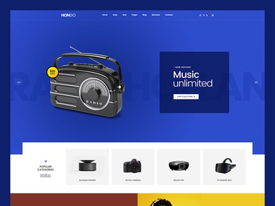 Hongo WooCommerce WordPress Theme - Electronic
