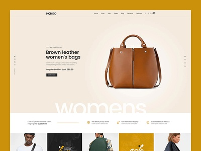 Hongo WooCommerce WordPress Theme - Leather