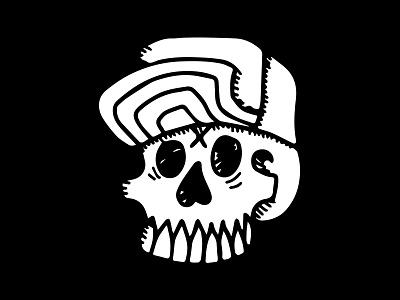 Stay Rad, Scoundrel blackwork vintage retro grunge graphic design skull hand drawn illustration